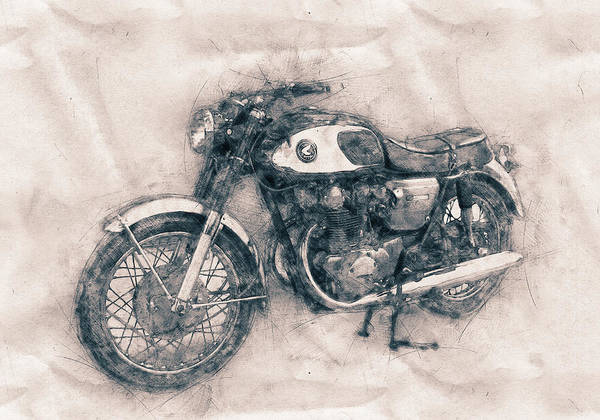 Wall Art - Mixed Media - Honda Cb77 - Honda Motorcycles - Motorcycle Poster - Automotive Art by Studio Grafiikka