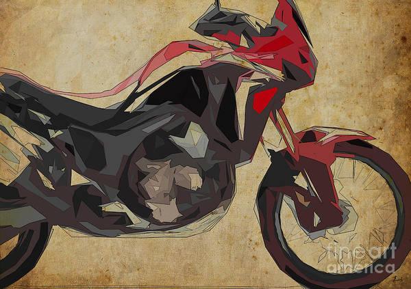 Christmas Gift Digital Art - Honda Crf 1000l Africa Twin 2016 by Drawspots Illustrations