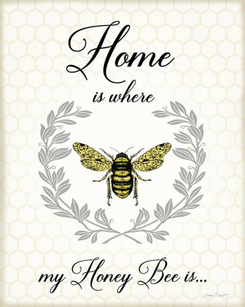 Bumble Bee Wall Art - Digital Art - Honey Bee A by Jean Plout