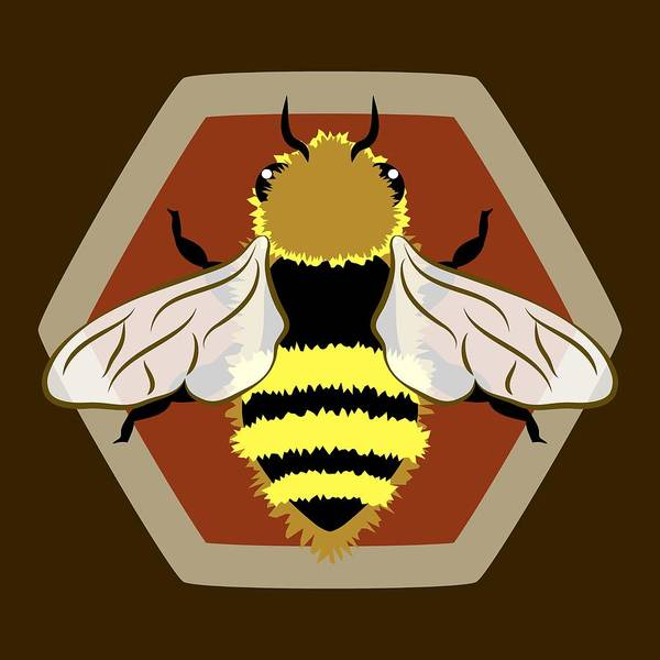 Digital Art - Honey Bee Graphic by MM Anderson