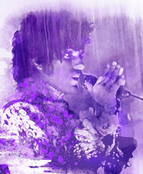 Prince Rogers Nelson Wall Art - Mixed Media - Honey, I Know, I Know by Mal Bray