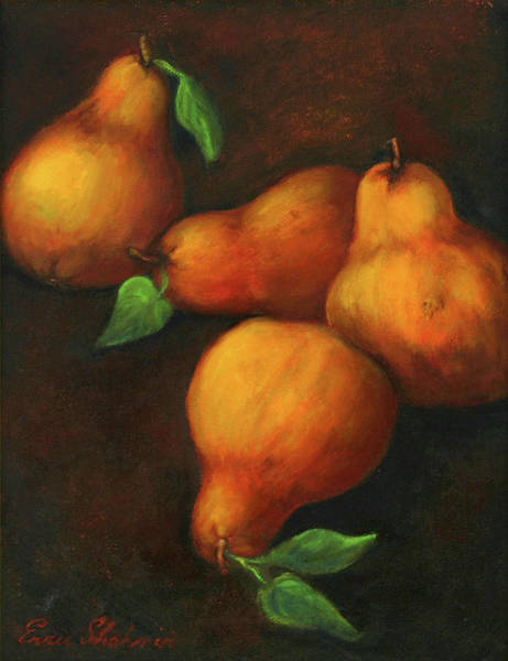 Wall Art - Painting - Honey Pears by Portraits By NC