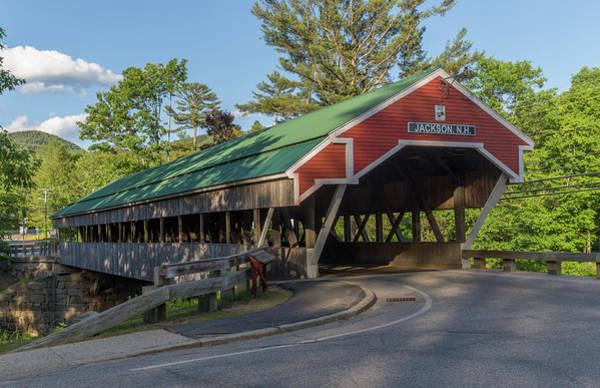 Photograph - Honeymoon Covered Bridge In Jackson New Hampshire by Brian MacLean
