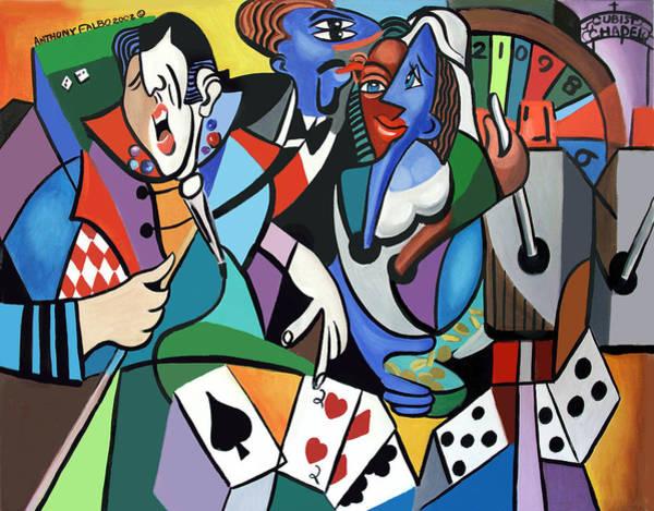 Honeymoon Painting - Honeymoon In Vegas by Anthony Falbo