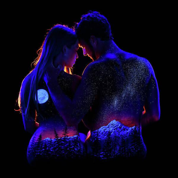 Blacklight Painting - Honeymoon by John Poppleton