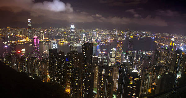 Photograph - Hong Kong At Night by Jed Holtzman