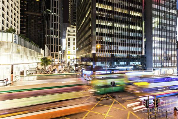 Photograph - Hong Kong Central At Night by Didier Marti