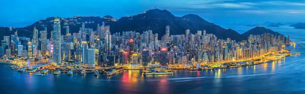Hongkong Photograph - Hong Kong City  by Anek Suwannaphoom