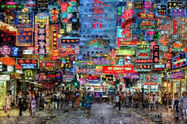 Digital Art - Hong Kong City Nightlife by Rafael Salazar