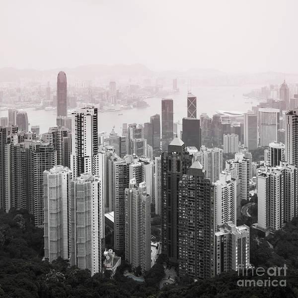 Hongkong Photograph - Hong Kong Downtown View by Dvoevnore Photo
