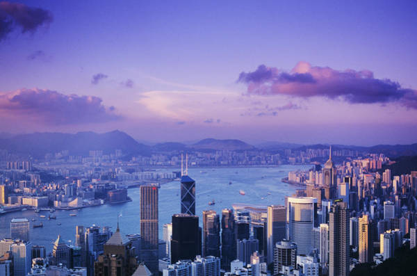 Gloria Photograph - Hong Kong Harbor by Gloria & Richard Maschmeyer - Printscapes