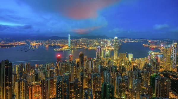 Hongkong Photograph - Hong Kong Skyline by Anek Suwannaphoom