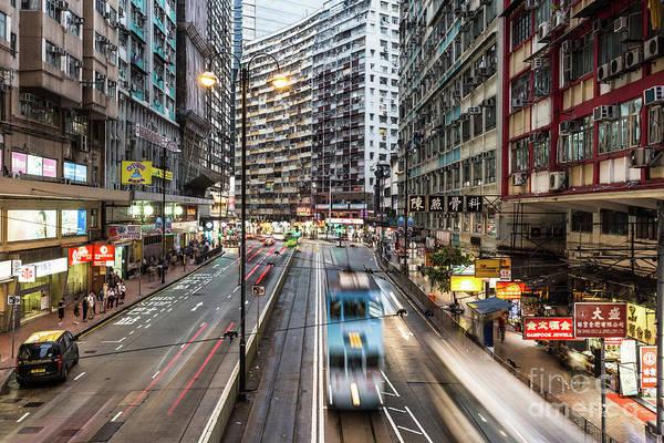 Photograph - Hong Kong Tramway Rush by Didier Marti
