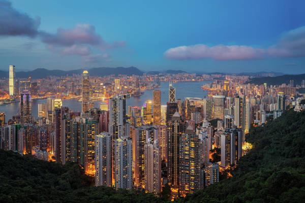 Hongkong Photograph - Hong Kong View Point From Top Of Victoria Peak by Anek Suwannaphoom