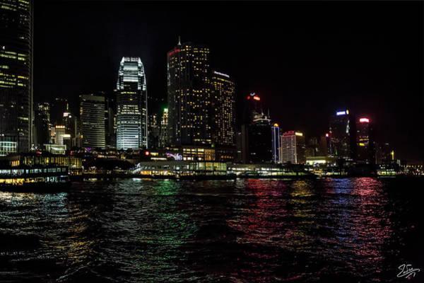 Photograph - Hong Kong Water At Night by Endre Balogh