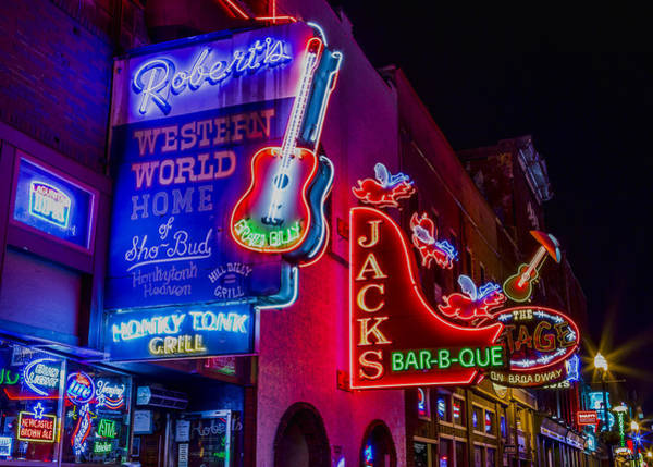 Nashville Photograph - Honky Tonk Broadway by Stephen Stookey