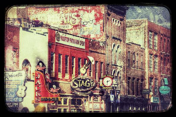 Honky Tonk Photograph - Honky Tonk Row - Nashville by Debra Martz