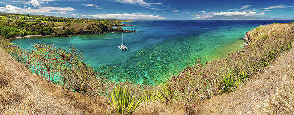 Photograph - Honolua Bay Panorama by Pierre Leclerc Photography