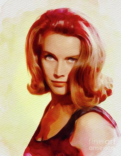 Pussy Painting - Honor Blackman, Movie Star by John Springfield