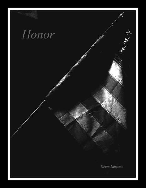 Wall Art - Photograph - Honor by Steven Lebron Langston
