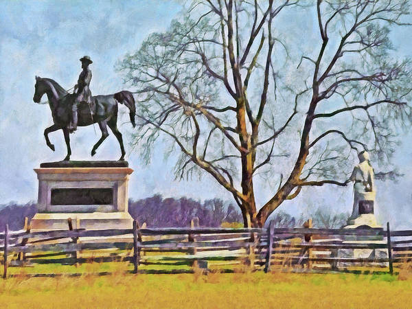 Digital Art - Honoring The American Heroes Of Gettysburg - 3 by Digital Photographic Arts
