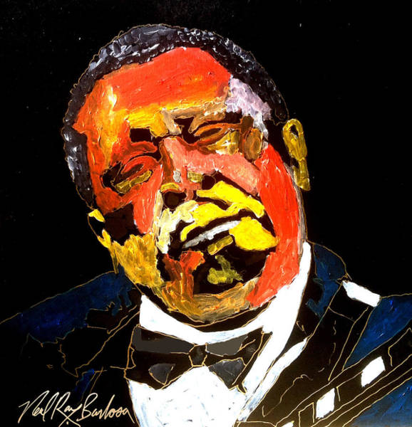 Painting - Honoring The King 1925-2015 by Neal Barbosa