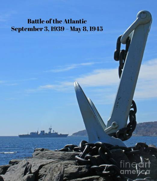 Battle Of The Atlantic Wall Art - Painting - Honoring Those Who Served In The Battle Of The Atlantic by John Malone