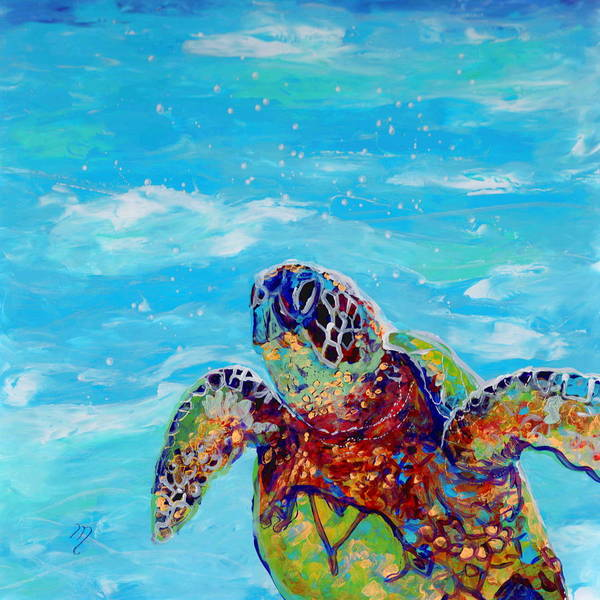 Aloha Painting - Honu 10 by Marionette Taboniar