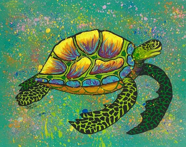 Painting - Honu Demo by Darice Machel McGuire