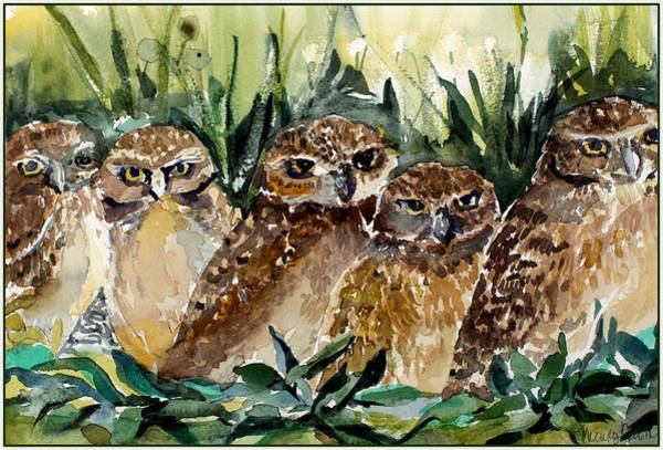 Wall Art - Painting - Hoo Is Looking At Me? by Mindy Newman