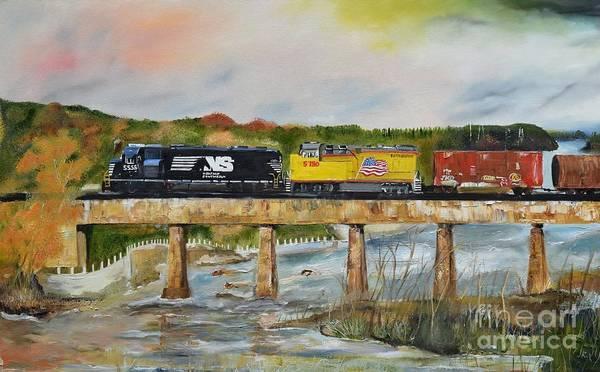 Norfolk Wall Art - Painting - Hooch - Chattahoochee River - Columbus Ga by Jan Dappen