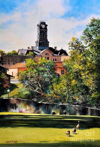 Courthouse Painting - Hood County Summer by Robert W Cook