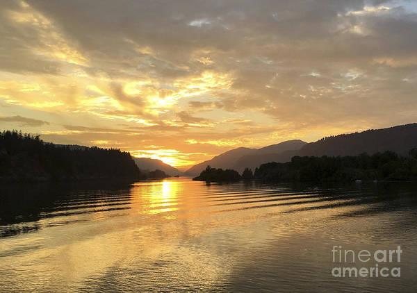 Hood River Golden Sunset Art Print