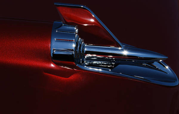 Photograph - 1957 Chevy Belair Hood Rocket Abstract by Jani Freimann