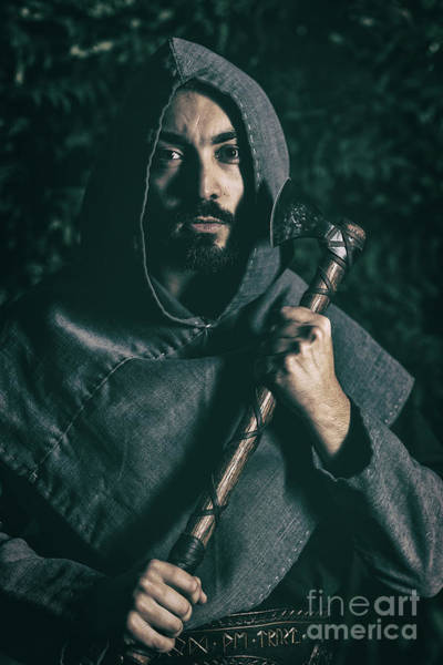 Cosplay Photograph - Hooded Man With Axe by Amanda Elwell