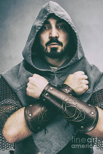 Cosplay Photograph - Hooded Viking Warrior by Amanda Elwell