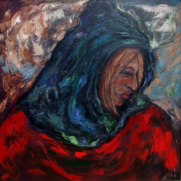 Painting - Hooded Woman by Katt Yanda