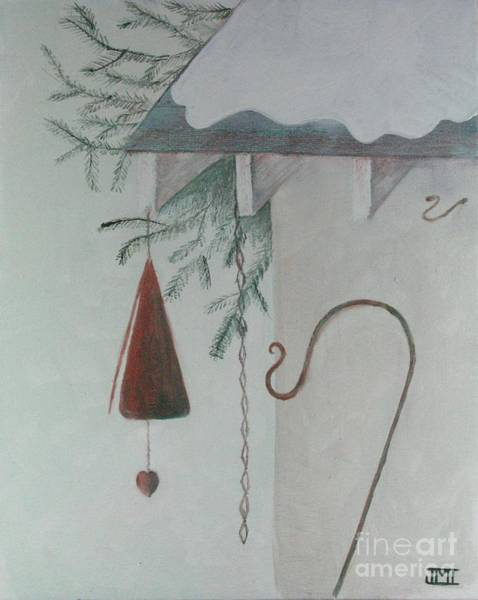 Wind Chime Painting - Hook And Chime by Jackie Irwin