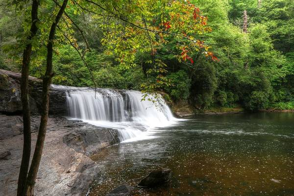 Photograph - Hooker Falls And Autumn Begins by Carol Montoya