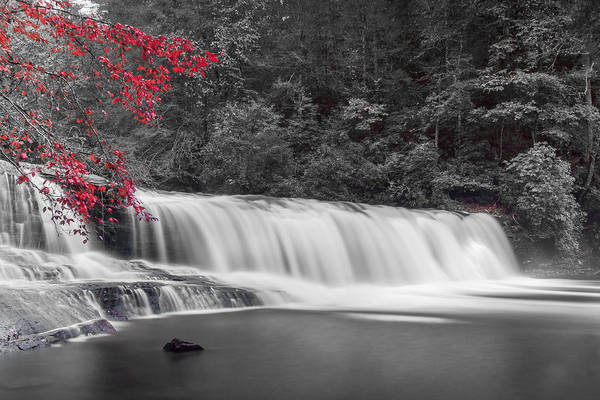 Photograph - Hooker Falls-red by Joye Ardyn Durham