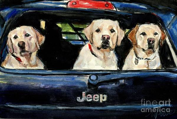 Jeep Wall Art - Painting - Hooligans by Molly Poole
