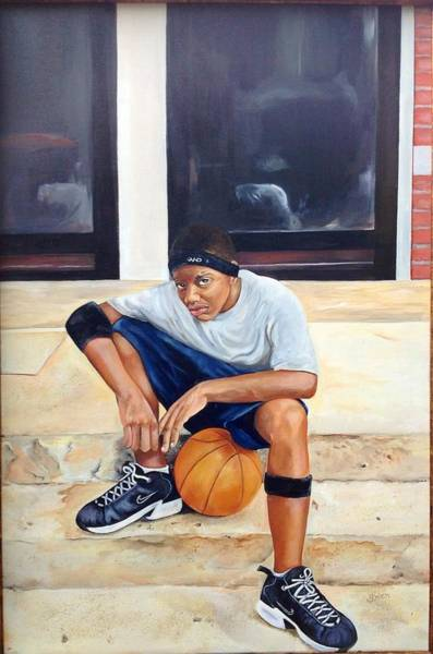 Sneakers Painting - Hoop Squad by Gwendolyn Frazier