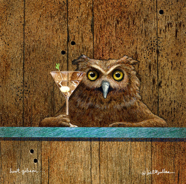 Owl Painting - Hoot Gibson... by Will Bullas