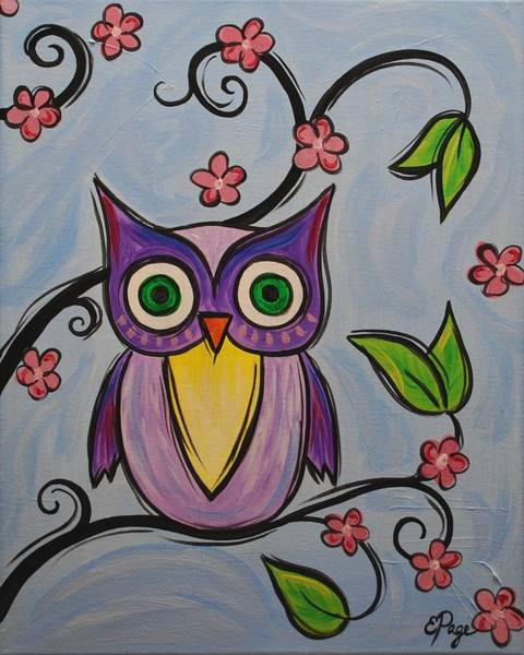 Painting - Hootie by Emily Page