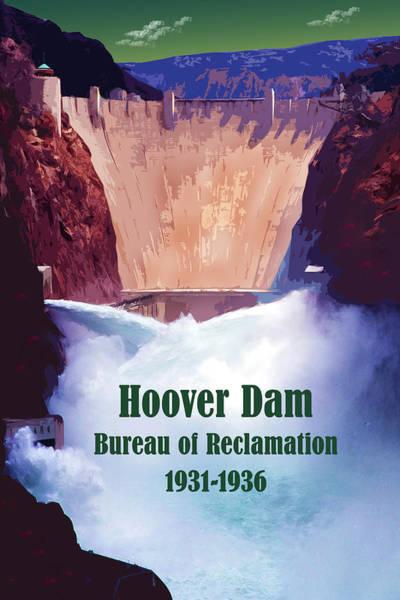 Digital Art - Hoover Dam by Chuck Mountain