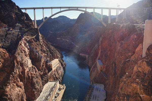 Photograph - Hoover Dam Gorge by Paulette B Wright