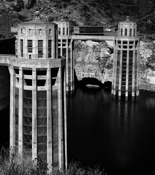 Wall Art - Photograph - Hoover Dam Penstock Towers by Daniel Hagerman