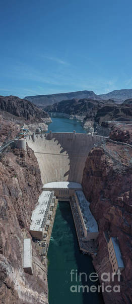 Photograph - Hoover Dam Vertical Panorama by Michael Ver Sprill