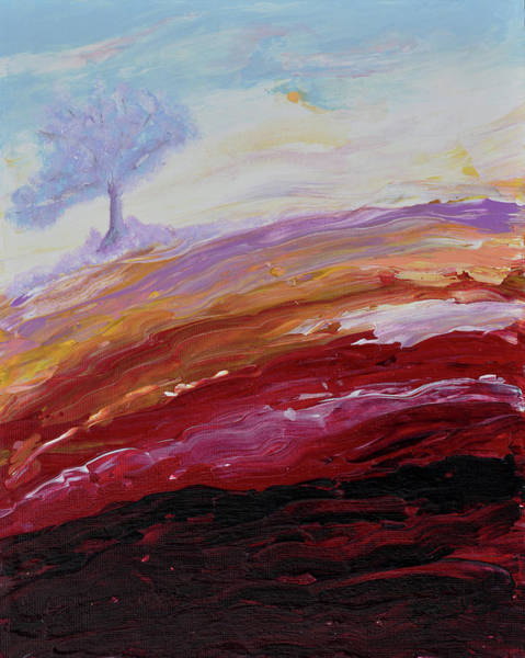 Wall Art - Painting - Hope Beyond The Lava by Donna Blackhall