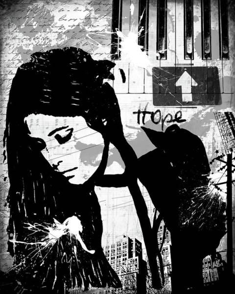 Wall Art - Mixed Media - Hope Black by Melissa Smith